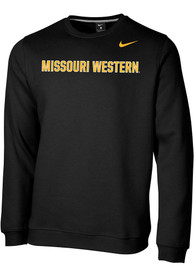 Missouri Western Griffons Nike Club Fleece Wordmark Crew Sweatshirt - Black