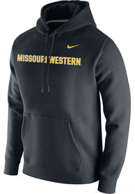 Missouri Western Griffons Nike Club Fleece Wordmark Hooded Sweatshirt - Black