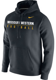 Missouri Western Griffons Nike Club Fleece Football Hooded Sweatshirt - Black