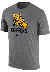 Missouri Western Griffons Nike Dri-FIT Name Drop T Shirt - Grey