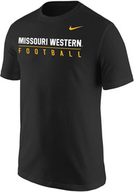 Missouri Western Griffons Nike Core Football T Shirt - Black