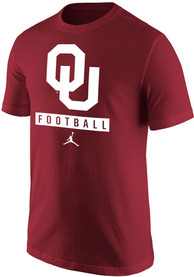 Oklahoma Sooners Nike Core Football T Shirt - Crimson