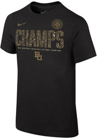 Baylor Bears Youth Nike 2021 National Champions T-Shirt - Black