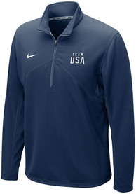 Team USA Nike Name 1/4 Zip Pullover - Navy Blue