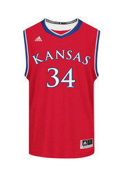 Adidas KU Jayhawks Mens Red Replica Basketball Jersey