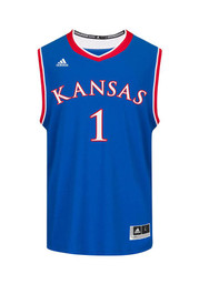 Adidas KU Jayhawks Mens Blue Replica Basketball Jersey