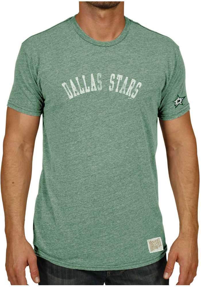 Original Retro Brand Dallas Stars Green Wordmark with Arm Hit Tee - Image 1