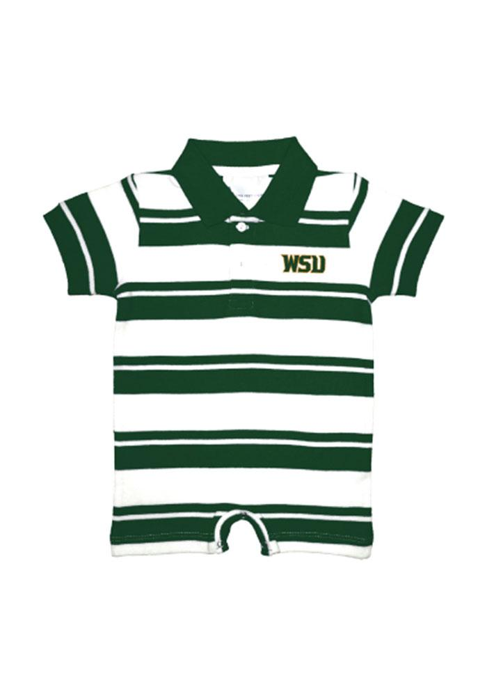 Wright State Raiders Baby Green Rugby Short Sleeve Polo One Piece - Image 1