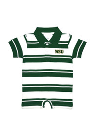 Wright State Raiders Baby Green Rugby Polo One Piece