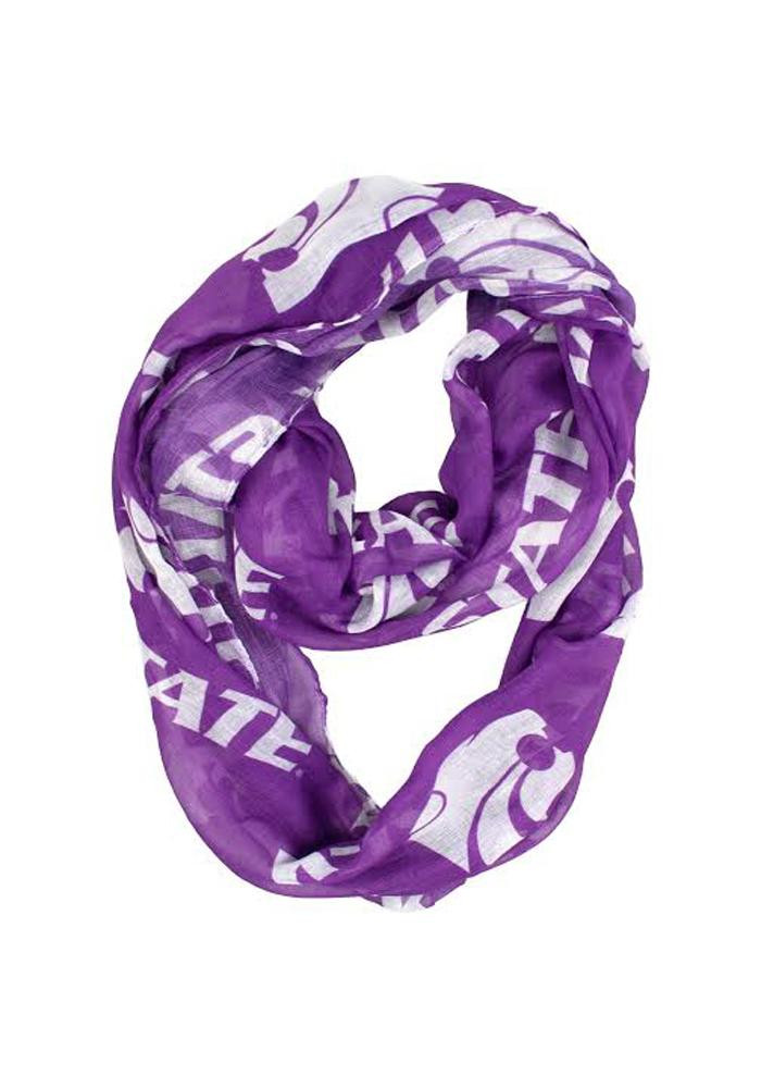 K-State Wildcats Sheer Infinity Womens Scarf - Image 1