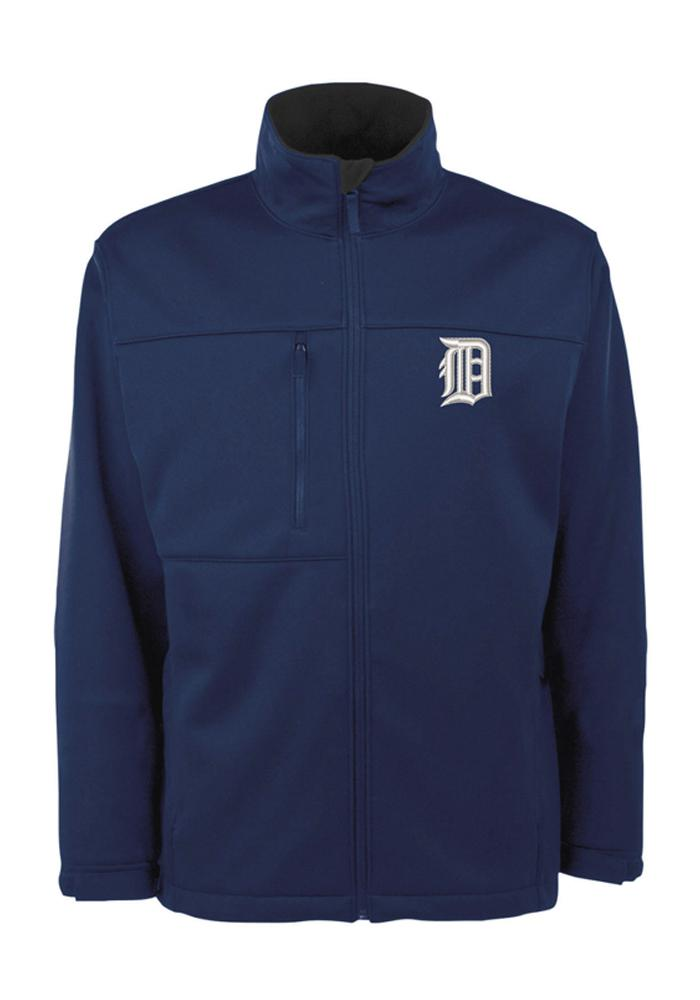 Antigua Detroit Tigers Mens Navy Blue Traverse Heavyweight Jacket - Image 1