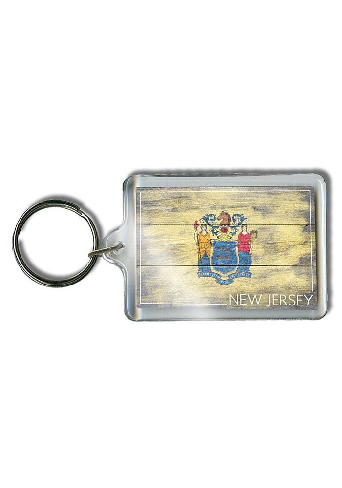 New Jersey Vintage Flag Keychain - Image 1