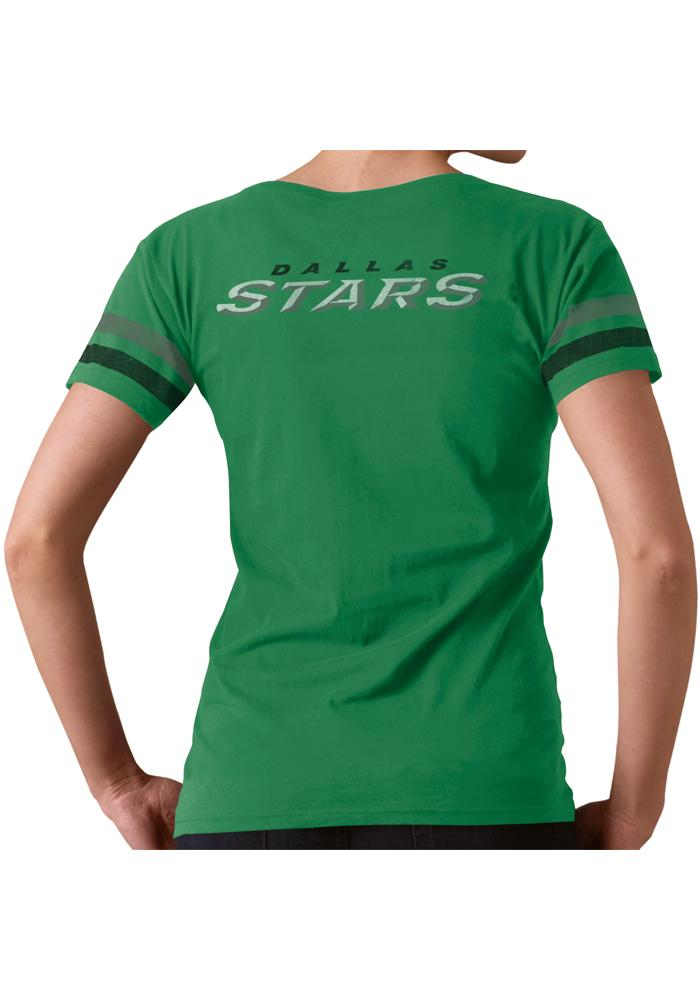 '47 Dallas Stars Womens Kelly Green Post Season V-Neck T-Shirt - Image 3