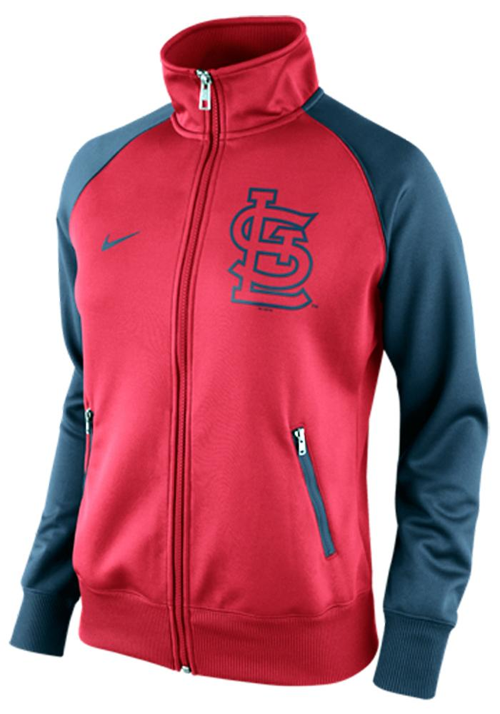Nike St Louis Cardinals Womens Red 1.5 Long Sleeve Track Jacket - Image 1