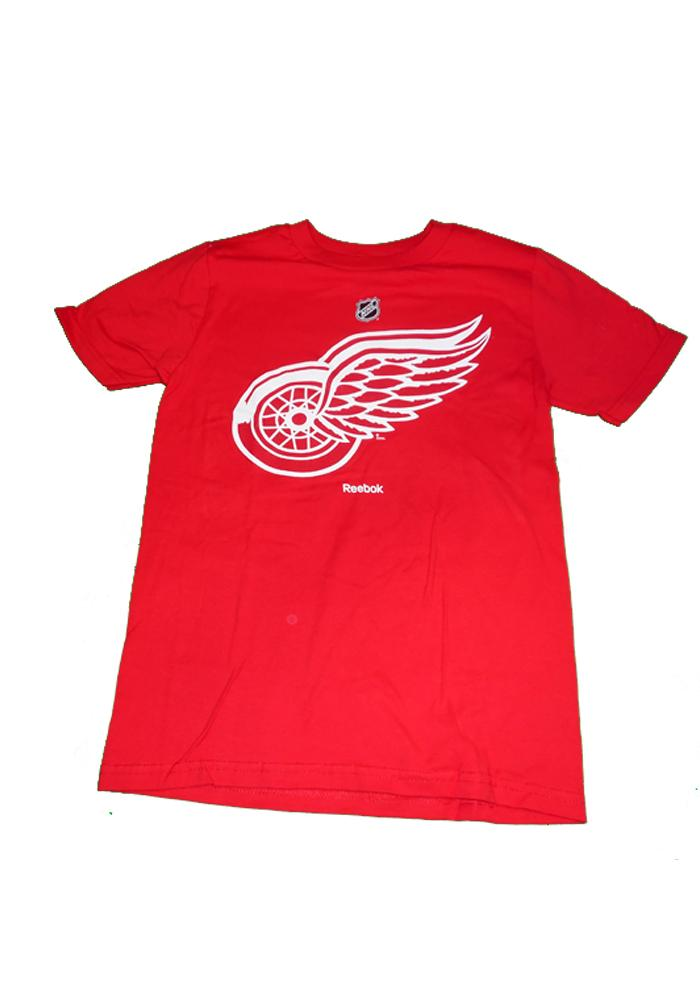 Detroit Red Wings Youth Red Primary Logo Short Sleeve T-Shirt - Image 1