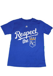 Kansas City Royals Youth Blue Respect the Crown T-Shirt