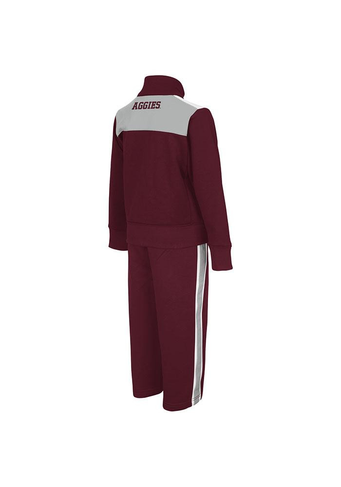 Colosseum Texas A&M Aggies Toddler Maroon Quarterpipe Set Top and Bottom - Image 1