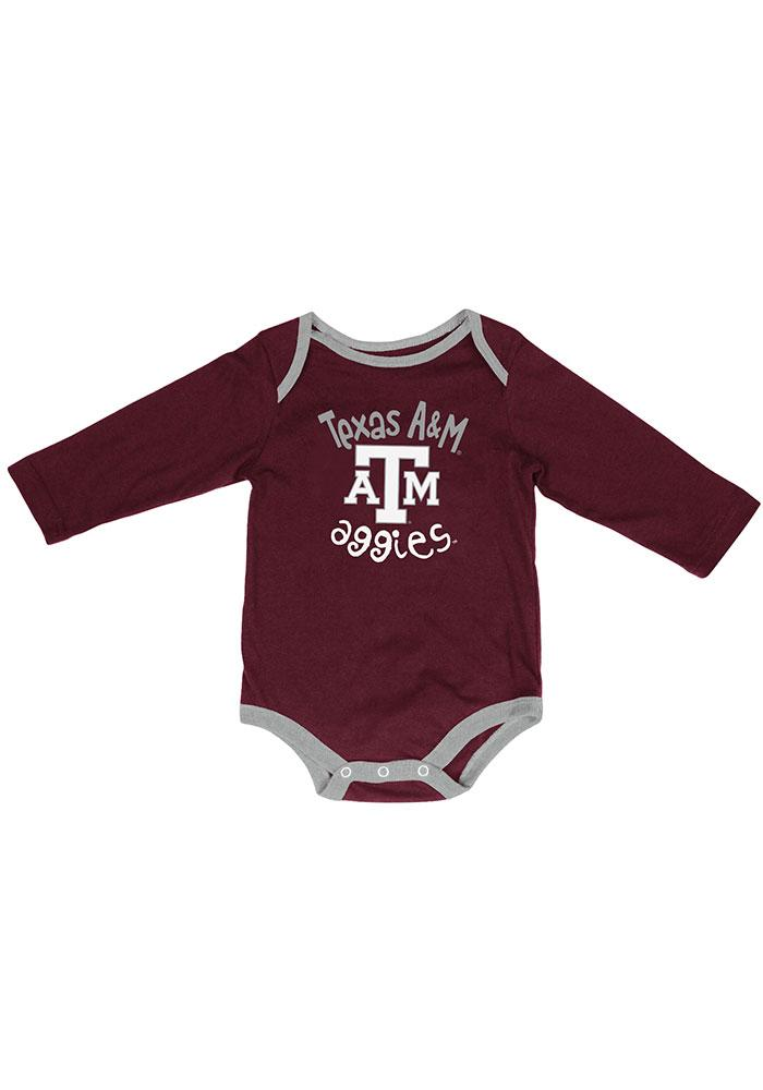 Texas A&M Aggies Baby Maroon Biggest Fan One Piece - Image 1