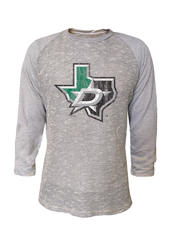 Dallas Stars Grey French Terry Long Sleeve Fashion T Shirt - Image 1
