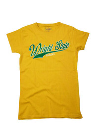 Wright State Raiders Womens Gold Large Logo T-Shirt