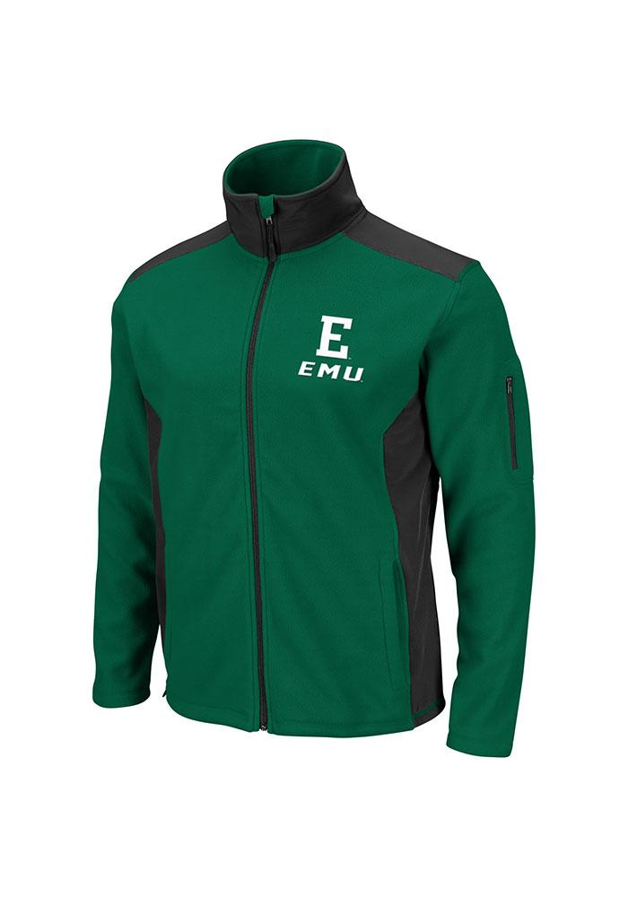 Colosseum Eastern Michigan Eagles Mens Green Halfpipe Light Weight Jacket - Image 3