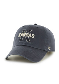 47 Kansas Jayhawks Historical B-ball Adjustable Hat - Navy Blue