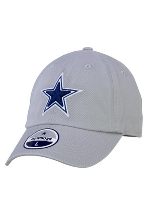 Dallas Cowboys Mens Gray Grey Star Legend Fitted Hat