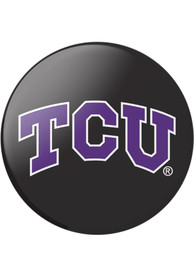 TCU Horned Frogs Black Logo PopSocket