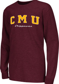 Colosseum Central Michigan Chippewas Youth Maroon Rally Loud T-Shirt