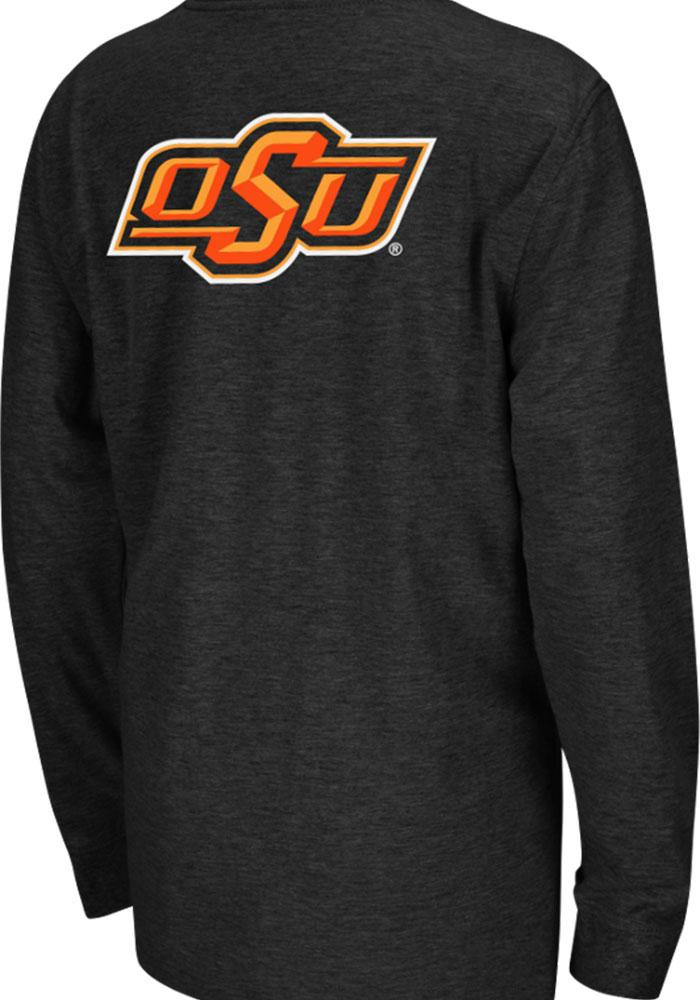 Colosseum Oklahoma State Cowboys Youth Black Rally Loud Long Sleeve T-Shirt - Image 1