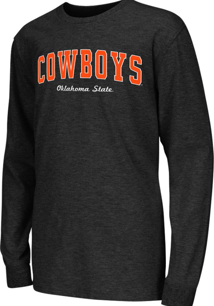 Colosseum Oklahoma State Cowboys Youth Black Rally Loud Long Sleeve T-Shirt - Image 2