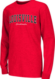 Colosseum Louisville Cardinals Youth Red Rally Loud T-Shirt