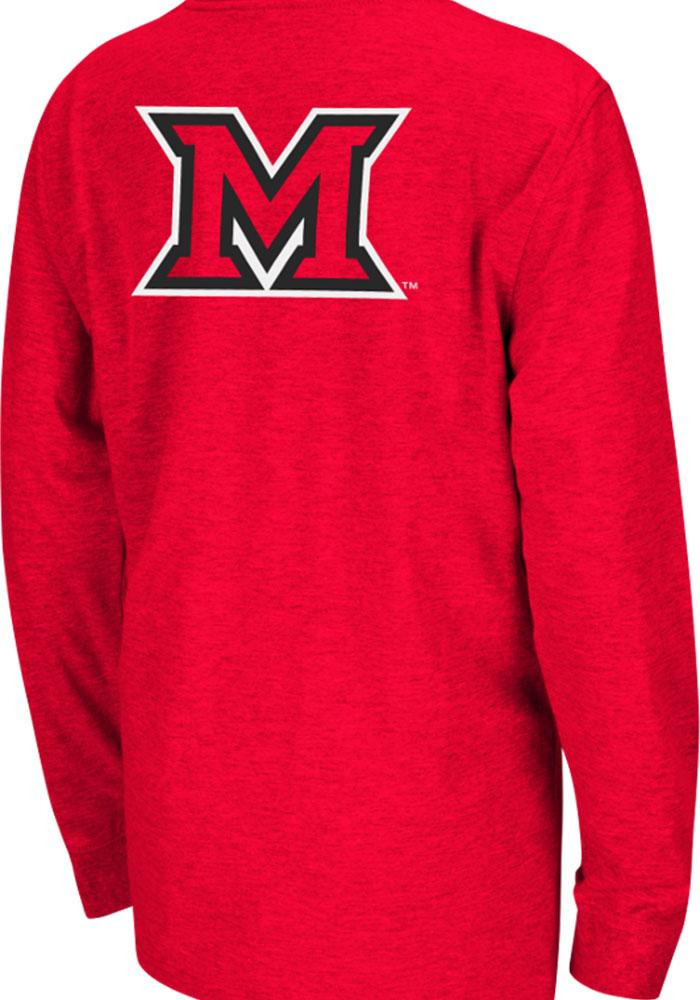 Colosseum Miami Redhawks Youth Red Rally Loud Long Sleeve T-Shirt - Image 1