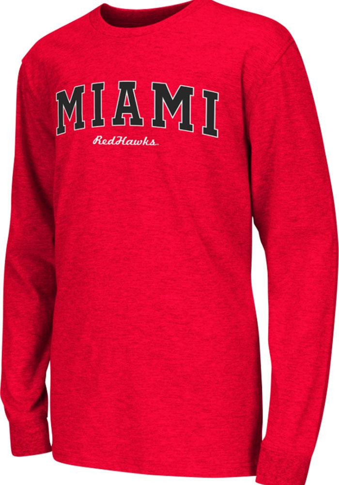 Colosseum Miami Redhawks Youth Red Rally Loud Long Sleeve T-Shirt - Image 2