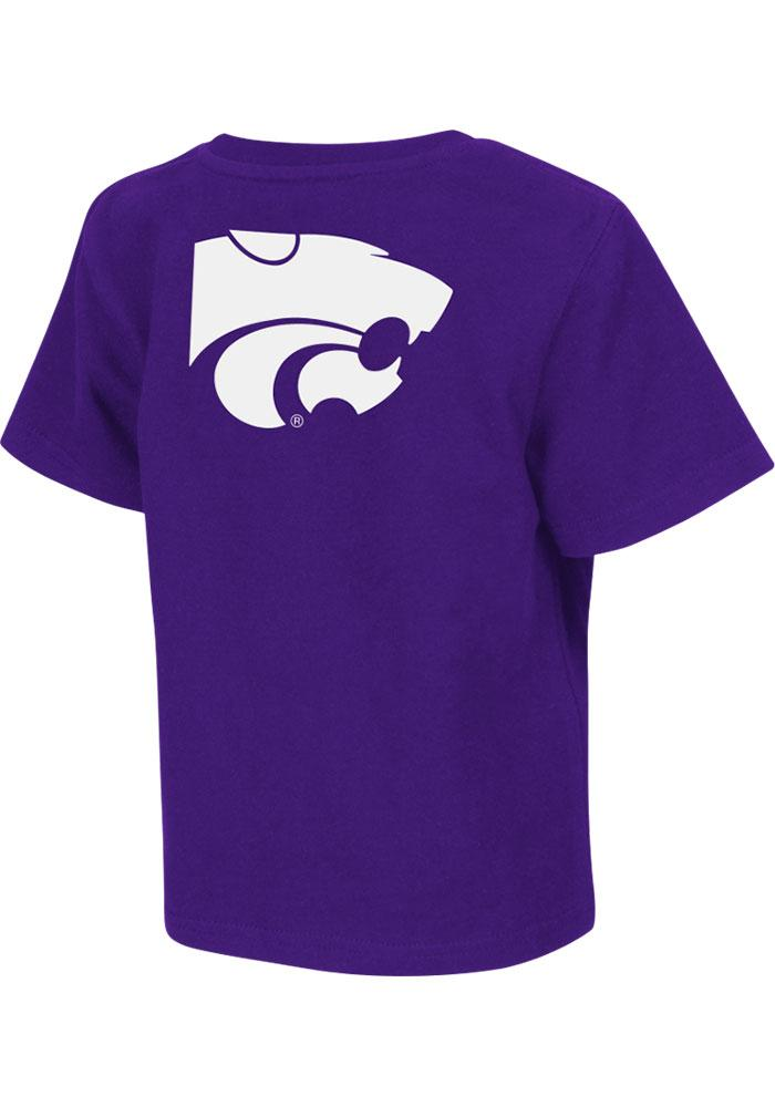 Colosseum K-State Wildcats Toddler Purple Rally Loud Short Sleeve T-Shirt - Image 1