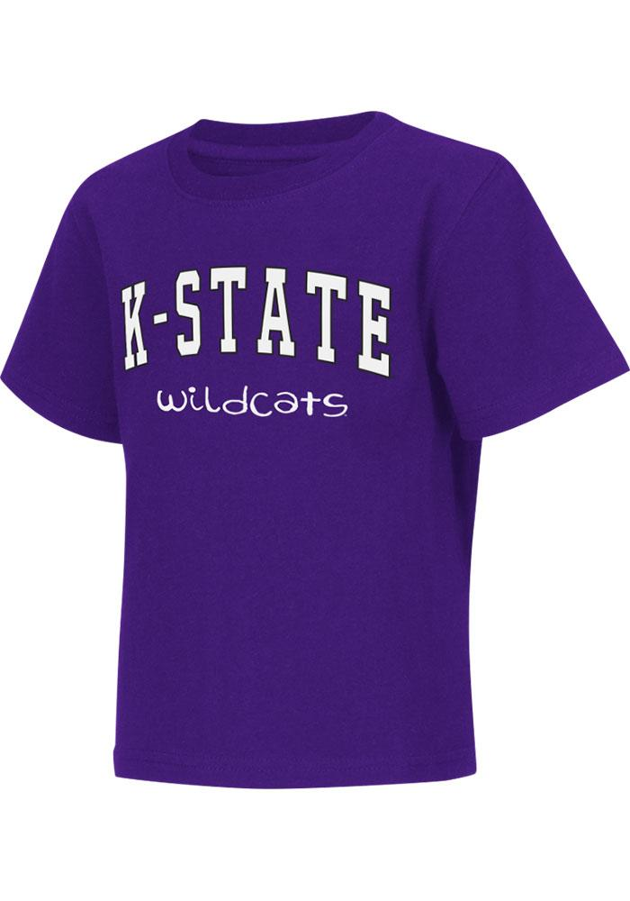 Colosseum K-State Wildcats Toddler Purple Rally Loud Short Sleeve T-Shirt - Image 2