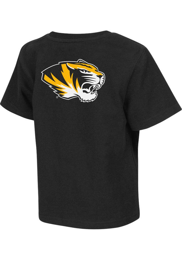 Colosseum Missouri Tigers Toddler Black Rally Loud Short Sleeve T-Shirt - Image 1
