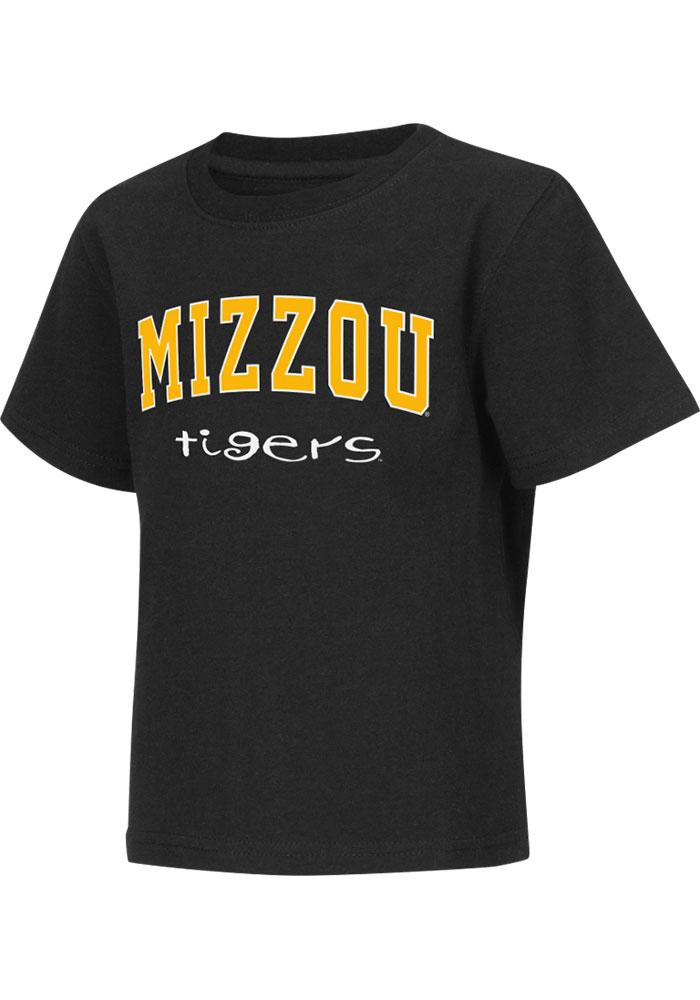 Colosseum Missouri Tigers Toddler Black Rally Loud Short Sleeve T-Shirt - Image 2