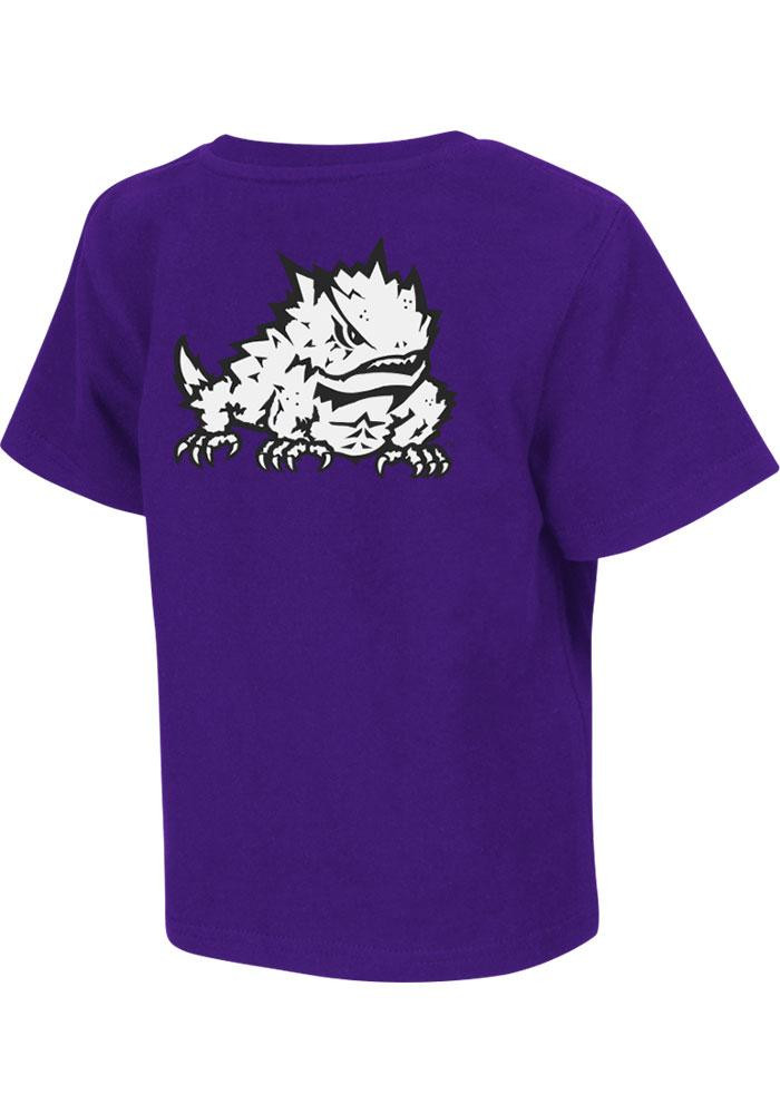 Colosseum TCU Horned Frogs Toddler Purple Rally Loud Short Sleeve T-Shirt - Image 1
