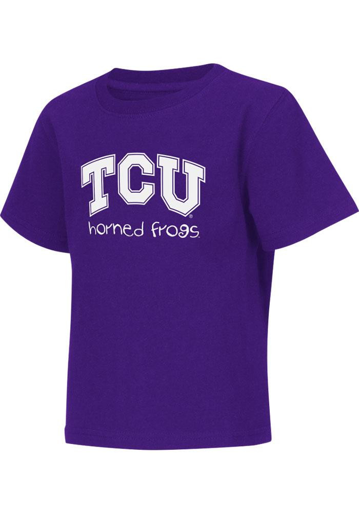 Colosseum TCU Horned Frogs Toddler Purple Rally Loud Short Sleeve T-Shirt - Image 2