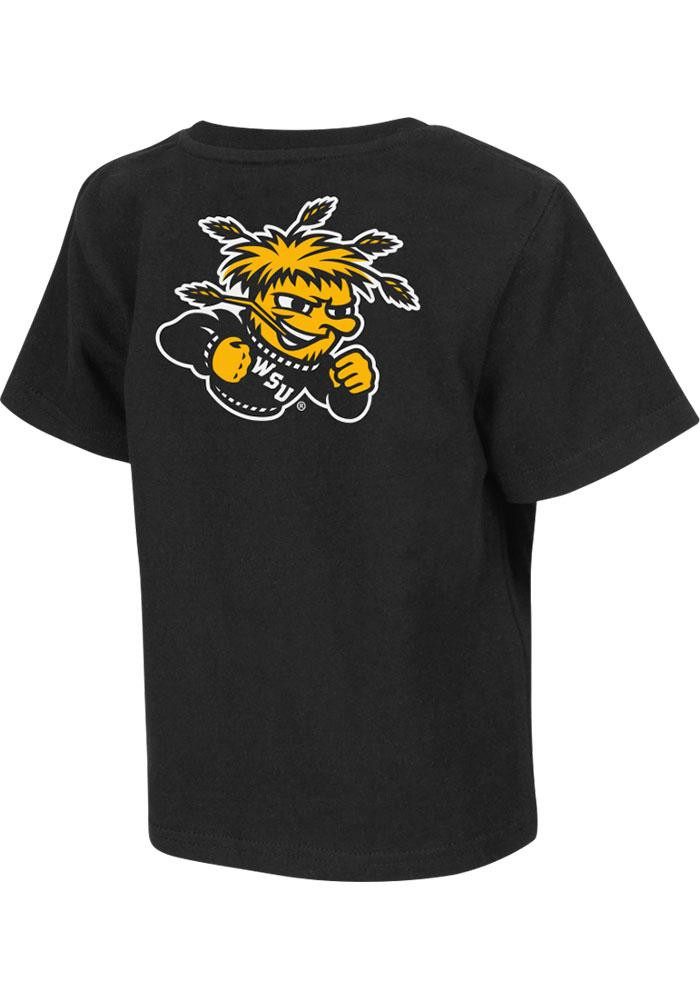 Colosseum Wichita State Shockers Toddler Black Rally Loud Short Sleeve T-Shirt - Image 2