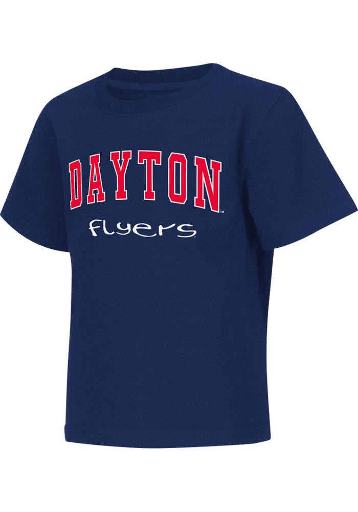 Colosseum Dayton Flyers Toddler Navy Blue Rally Loud Short Sleeve T-Shirt - Image 2