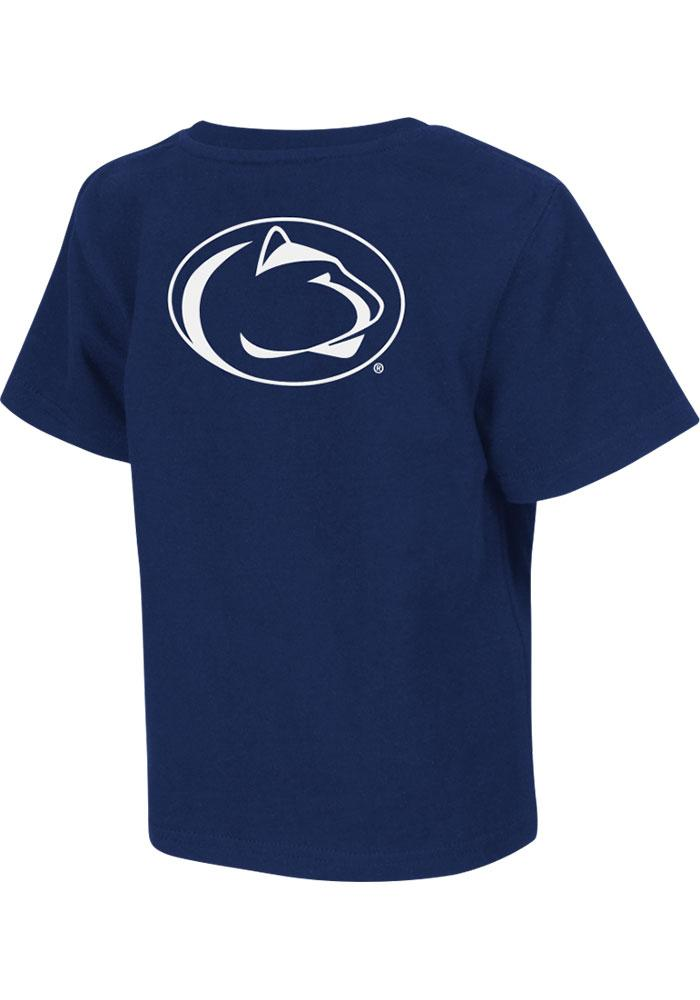 Colosseum Penn State Nittany Lions Toddler Navy Blue Rally Loud Short Sleeve T-Shirt - Image 2