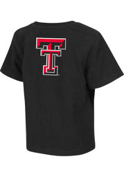 Colosseum TTech Red Raiders Toddler black Rally Loud T-Shirt