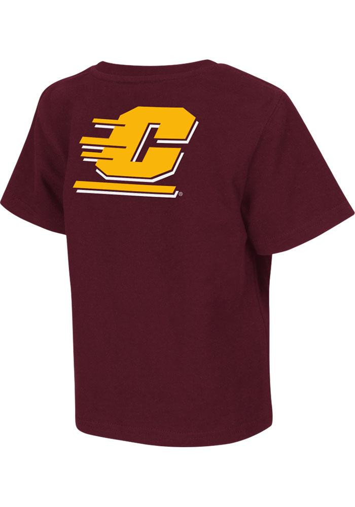 Colosseum Central Michigan Chippewas Toddler Maroon Rally Loud Short Sleeve T-Shirt - Image 1