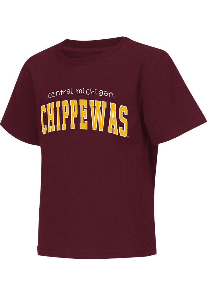 Colosseum Central Michigan Chippewas Toddler Maroon Rally Loud Short Sleeve T-Shirt - Image 2