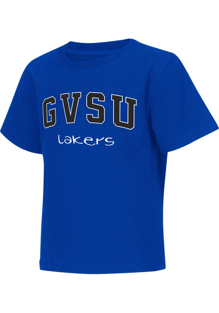 Colosseum Grand Valley State Lakers Toddler Blue Rally Loud Short Sleeve T-Shirt - Image 2