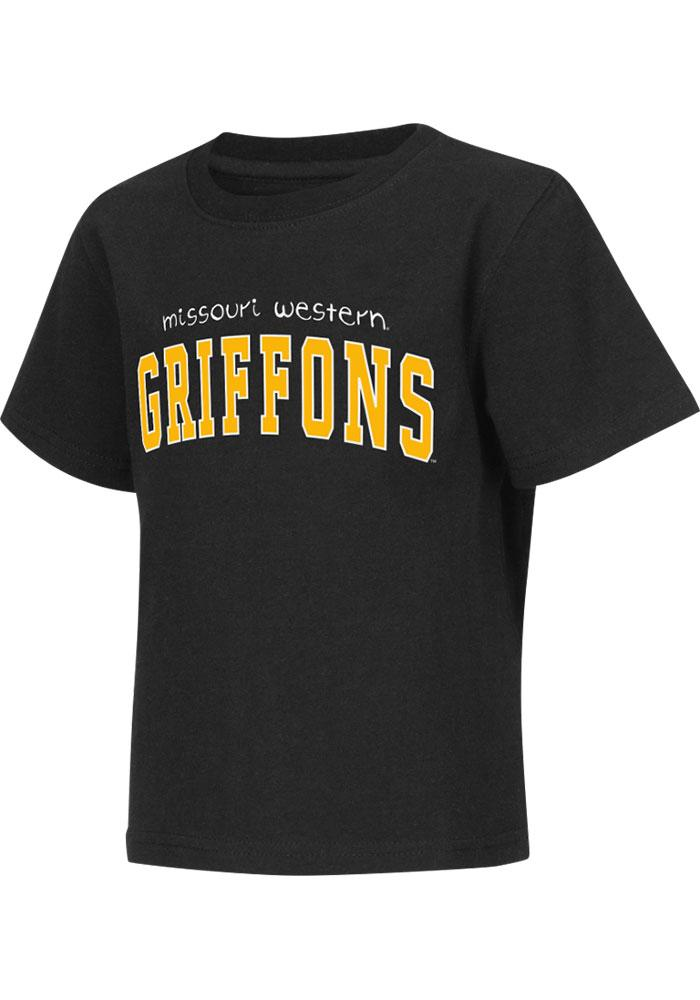 Colosseum Missouri Western Griffons Toddler Black Rally Loud Short Sleeve T-Shirt - Image 1