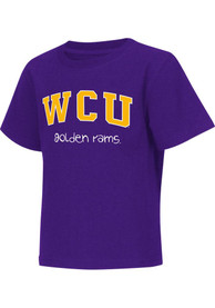 Colosseum West Chester Golden Rams Toddler Purple Rally Loud T-Shirt