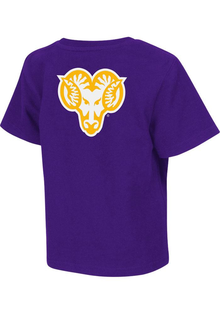 Colosseum West Chester Golden Rams Toddler Purple Rally Loud Short Sleeve T-Shirt - Image 2